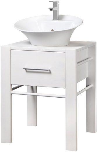 WELLTIME Waschtisch »Wien«, Breite 60 cm, inklusive Becken und Handtuchstange