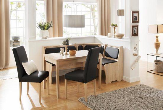 Home affaire Essgruppe »Spree«, (Set, 5-tlg), bestehend aus Eckbank, Tisch und 2 Stühlen