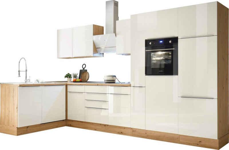 RESPEKTA Winkelküche »Safado«, mit 2 E-Geräte-Sets zur Auswahl, hochwertige Ausstattung wie Soft Close Funktion, schnelle Lieferzeit, Stellbreite 370 x 172 cm