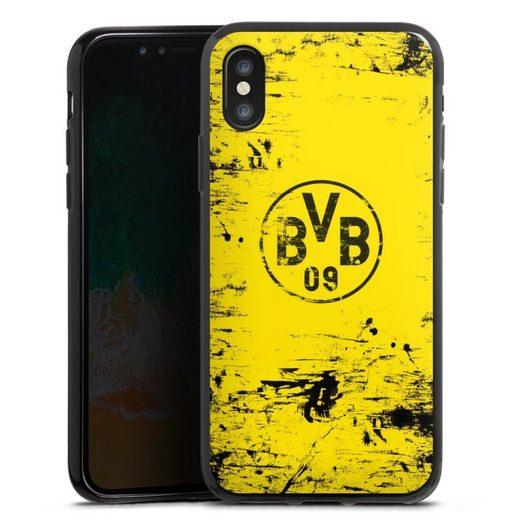DeinDesign Handyhülle »BVB Destroyed Look« Apple iPhone Xs, Hülle Borussia Dortmund Offizielles Lizenzprodukt BVB