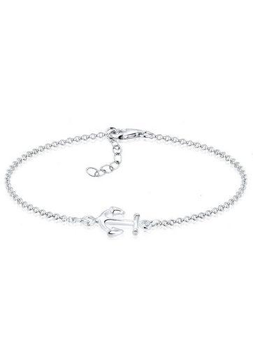 Elli Armband »Anker Maritim Segler Trend Symbol 925 Silber«, Anker
