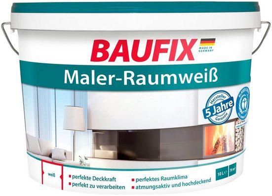 BAUFIX Wand- und Deckenfarbe »Maler-Raumweiß«, 10 Liter