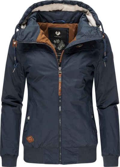 Ragwear Winterjacke »Jotty Winter« stylische Outdoorjacke mit abnehmbarer Kapuze