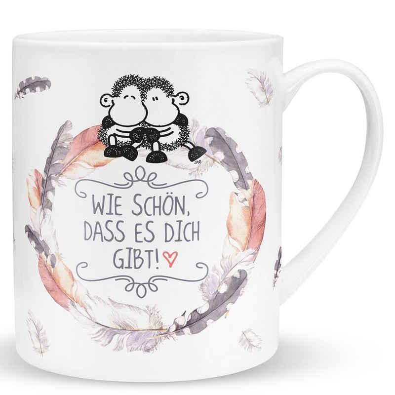 """Sheepworld Tasse »Sheepworld - XL Geschenk- Kaffee- Tasse """"Schön dass es dich gibt"""" 0,6l Box 45397«"""