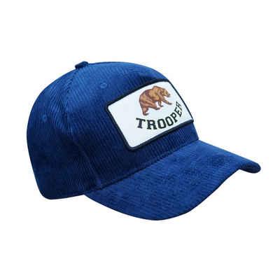 Chiccheria Brand Baseball Cap »Trooper« Blau, aus 100% Cord