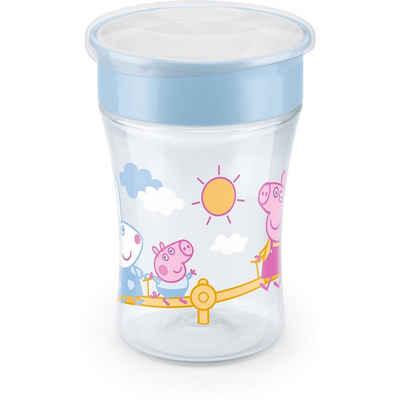 NUK Trinklernbecher »NUK Peppa Pig Magic Cup 230ml, 360°-Trinkrand,«