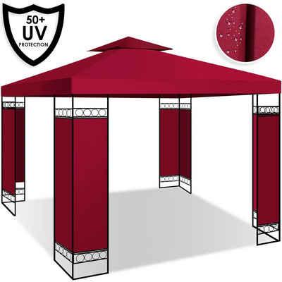 KESSER Pavillon, Gartenzelt Luxus Festzelt 3x3m wasserabweisend UV-Schutz 50+ Metallgestell Partyzelt Gartenpavillon 9 Quadratmeter