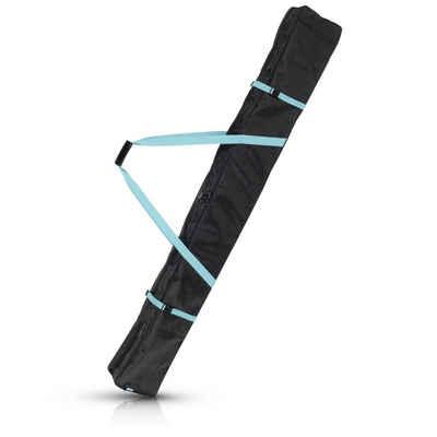 Navaris Sporttasche, Skisack Skitasche versch. Größen - Tasche 1 Paar Ski mit 2 Stöcken - Skibag Skihülle - Robuste Skitasche für 1 Paar Ski