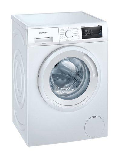 SIEMENS Einbauwaschmaschine WM14N0H2, 7 kg, 1400 U/min, simpleTouch, varioSpeed, anti-vibration Design, Schaumerkennung