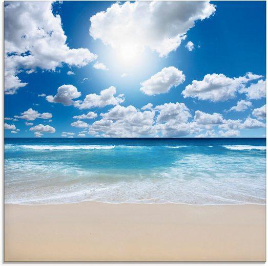Artland Glasbild »Großartige Strandlandschaft«, Strand (1 Stück)