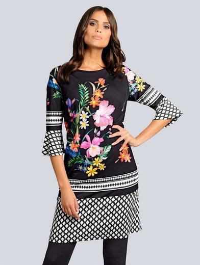 Alba Moda Kleid mit exklusivem Kombinationsdruck