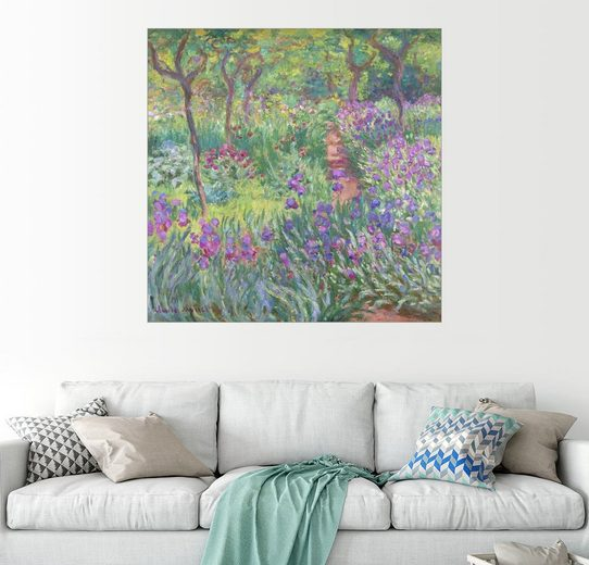 Posterlounge Wandbild, Irisbeet im Garten