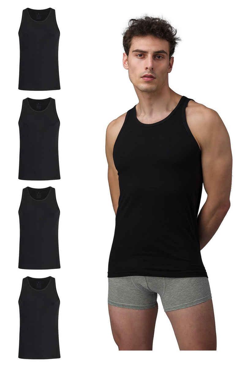 Burnell & Son Unterhemd »Tank Top Achselshirt für Herren« (4 Stück), Feinripp, extra lang