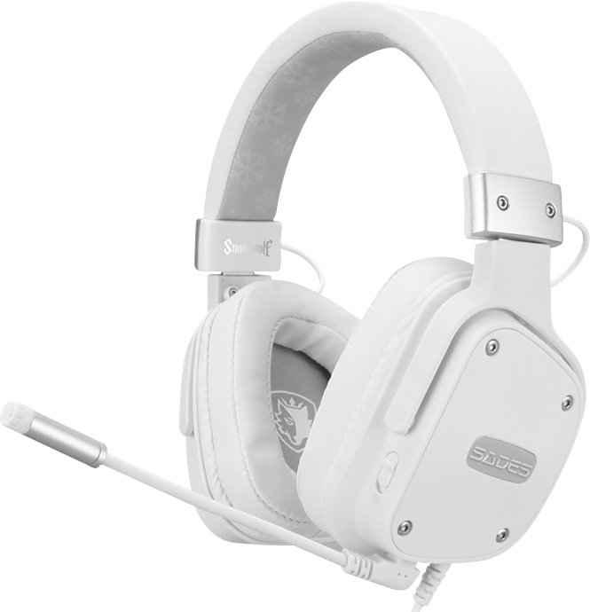Sades »Snowwolf SA-722S« Gaming-Headset (Mikrofon abnehmbar, Kompatibel mit PS4, PS5, Xbox One, Xbox Series X/S und Nintendo Switch, kabelgebunden)