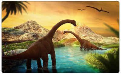 DesFoli Wandtattoo »Dinosaurier Langhals Wasser R1753«