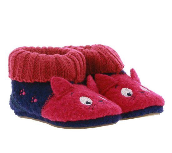 MAXIMO »maximo Haus-Schuhe kuschelige Baby Filz-Schühchen mit Gummibund Lauflern-Schuhe Pink« Lauflernschuh