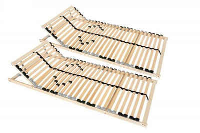 Lattenrost, Coemo, 28 Leisten, Kopfteil manuell verstellbar, Fußteil nicht verstellbar, 90x 200 cm, Doppelpack 2 Stk Partnerset, preisgünstige Selbstmontage