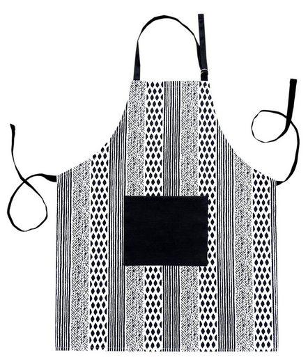 Lashuma Kochschürze »Geometric«, Küchenschürze Baumwolle, Backschürze 80x65 cm