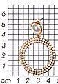 J.Jayz Paar Ohrstecker »mit Kreisen, elegant, vergoldet«, mit Acrylperlen, Bild 2