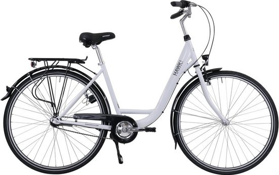 HAWK Bikes Cityrad »HAWK City Wave Premium White«, 3 Gang Shimano Nexus Schaltwerk