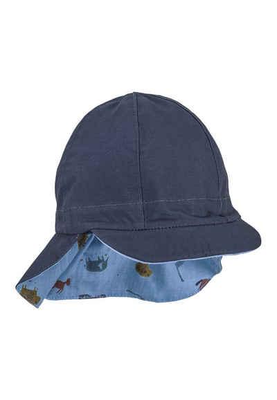 Sterntaler® Wendemütze »Wende-Schirmmütze mit Nackenschutz« (1-St) mit Nackenschutz; gefüttert mir UV-Popeline