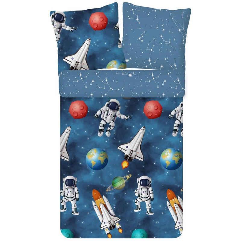 Bettwäsche »Galaxie Trendy Bedding«, ESPiCO, Galaxie, Weltraum, Planeten, Sternenhimmel