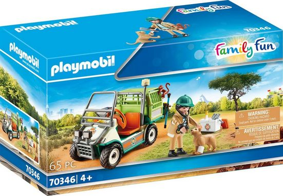 Playmobil® Konstruktions-Spielset »Zoo-Tierarzt mit Fahrzeug (70346), Family Fun«, ; Made in Germany