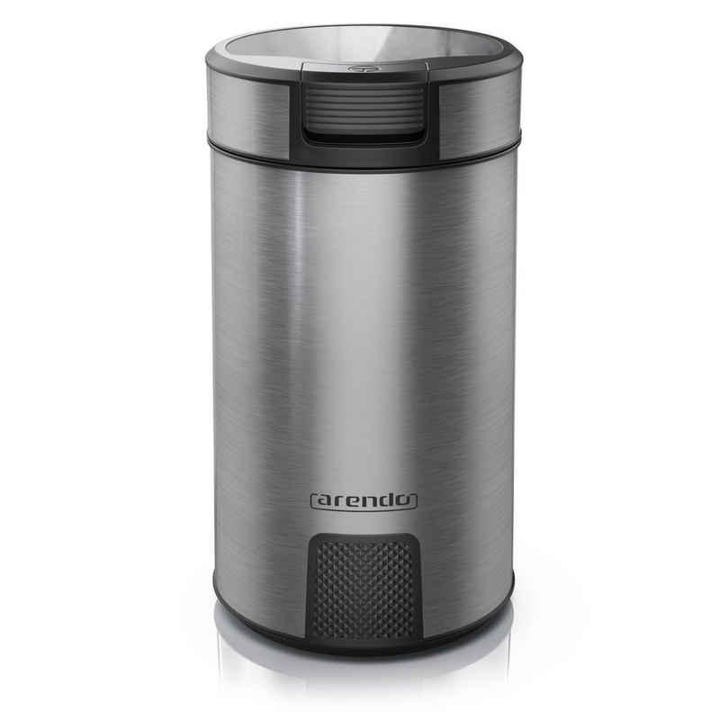 Arendo Kaffeemühle, 200 W, Schlagmesser, 60 g Bohnenbehälter, Kaffeemühle mit Edelstahlmesser MOSA