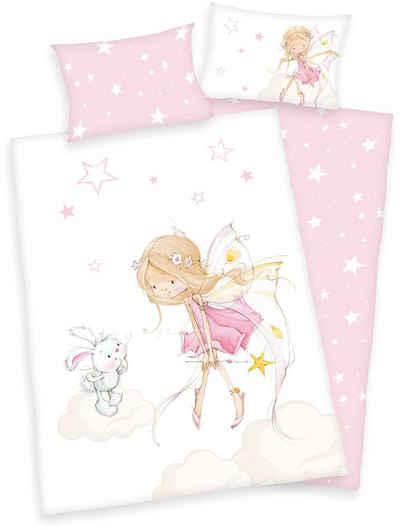 Kinderbettwäsche »Little Fairy«, Baby Best, mit niedlichem Feen-Motiv