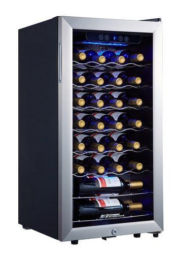 kalamera Weinkühlschrank KRC-86FCSS, für 28 Standardflaschen á 0,75l,Abschließbare Glastür