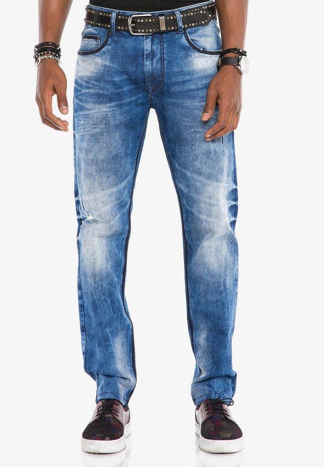 cipo & baxx -  Bequeme Jeans mit coolen Kontrastnähten