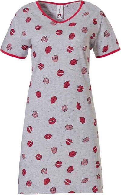 Rebelle Nachthemd »Rebelle Damen Nachthemd mit Mund« Mit Mund allover