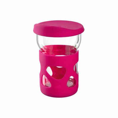 LEONARDO Coffee-to-go-Becher »IN GIRO Pink 250 ml«, Glas