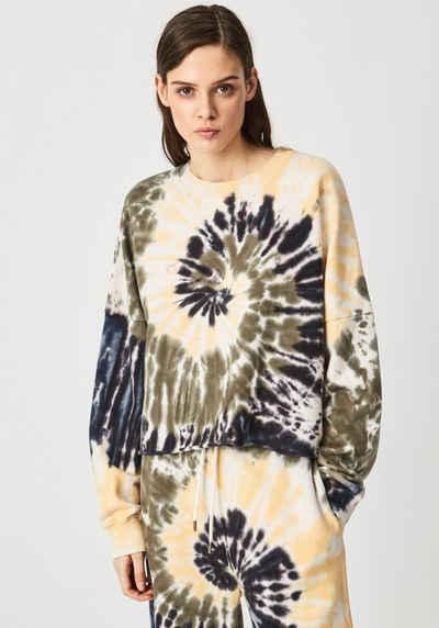 Pepe Jeans Sweater »ADELE« in Batik Optik aus leichter Sweatware mit Marken-Logo-Print im Brustbereich