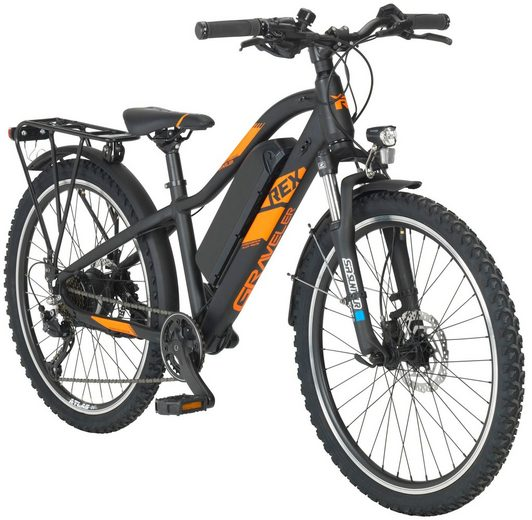 REX E-Bike Mountainbike »Graveler e930«, 24 Zoll, 7 Gang, Heckmotor, 374,4 Wh