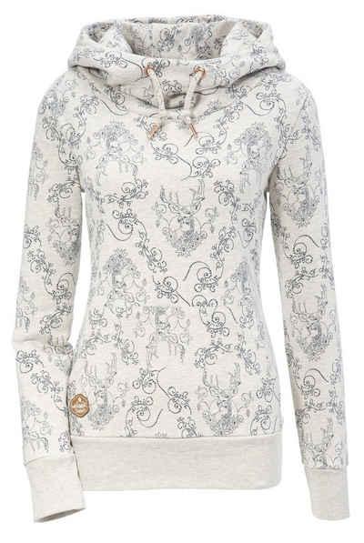 Hangowear Kapuzensweatshirt Damen bequemer Kapuzensweater mit All-over Druck
