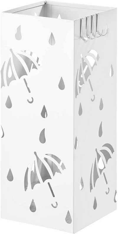 Woltu Schirmständer »SST02« (1 Stück), Regenschirmständer mit Wasserauffangschale