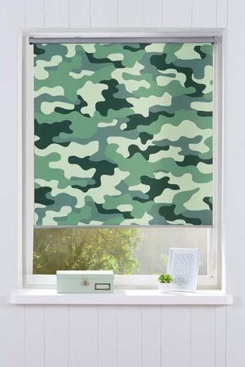 Seitenzugrollo »Camouflage«, Bruno Banani, verdunkelnd, ohne Bohren, freihängend, im Fixmaß