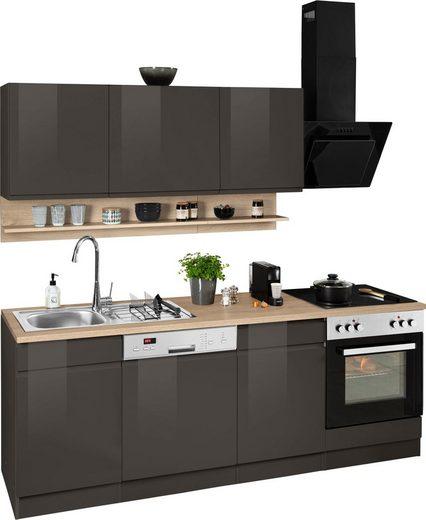 HELD MÖBEL Küchenzeile »Virginia«, mit E-Geräten, Breite 220 cm