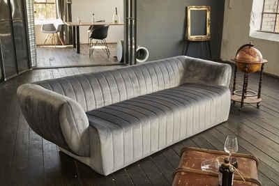 KAWOLA 3-Sitzer »NORLO«, Sofa Stoff Velvet versch. Farben