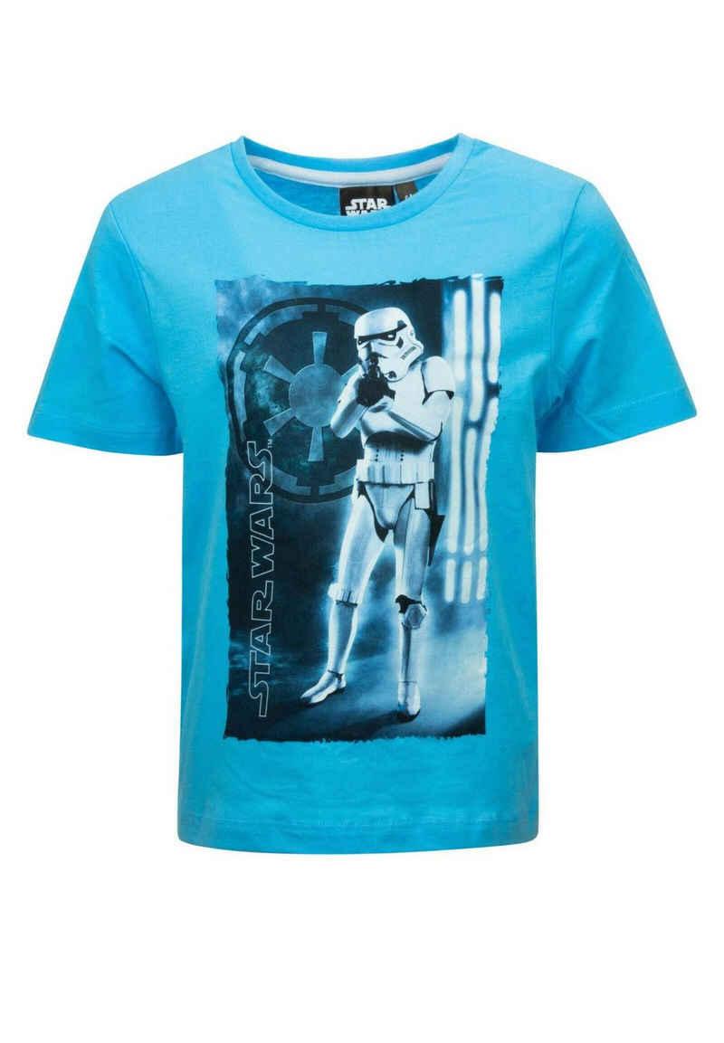 Star Wars T-Shirt »Jungen Kurzarm-Shirt Yoda, Darth Vader, Stormtrooper,« Anakin Skywalker, Obi-Wan Kenobi