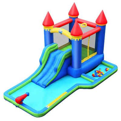 COSTWAY Wasserrutsche »Spielpool, Springburg«, 480 x 280 x 230cm
