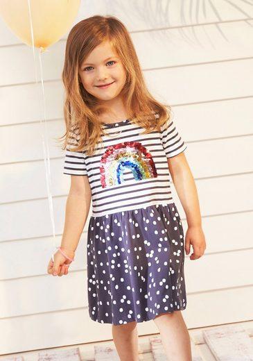 KIDSWORLD Jerseykleid mit Regenbogenapplikation