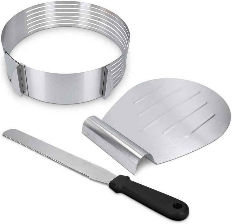 Favson Obstkuchenform »Kuchenheber Kuchenretter und Streichpalette Konditormesser Set, aus Edelstahl 3PCS«