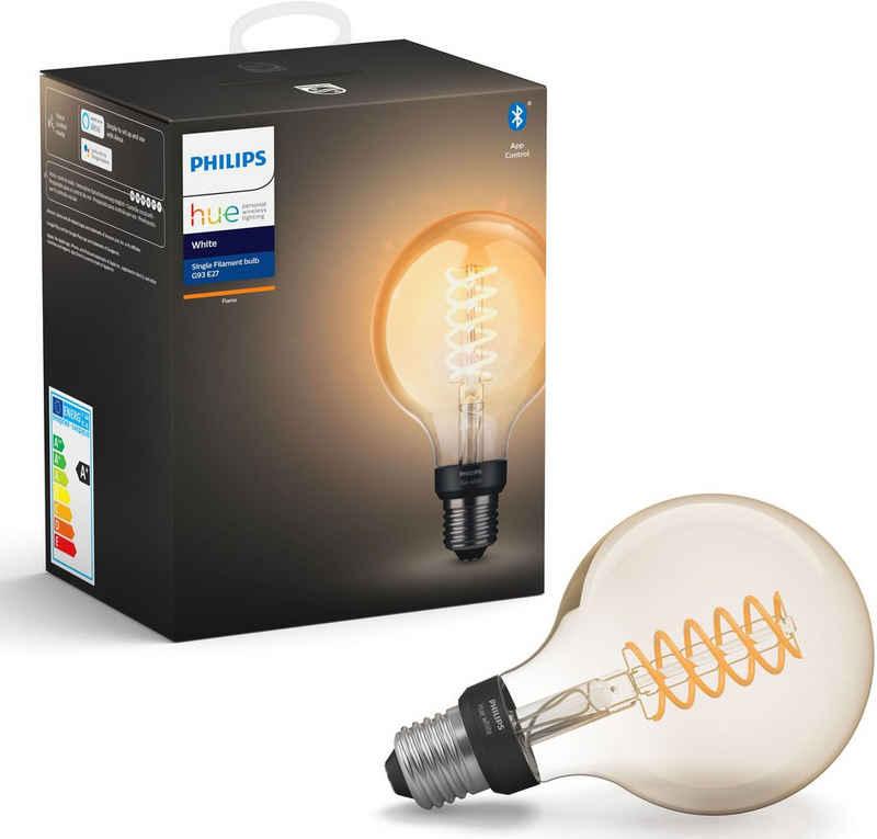 Philips Hue »White Filament Einzelpack 1x550lm ST64 Globe« LED-Filament, E27, 1 Stück, Extra-Warmweiß