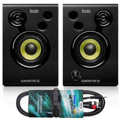 HERCULES DJ Controller »Hercules DJ Monitor 32 Boxen + Audiokabel«