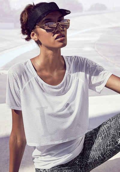 LASCANA ACTIVE 2-in-1-Shirt »Digital Mauve« im Layer-Design