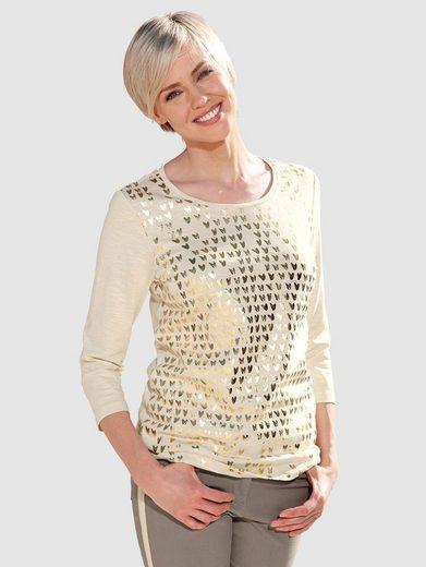 Laura Kent Shirt mit goldfarbenen Foliendruck
