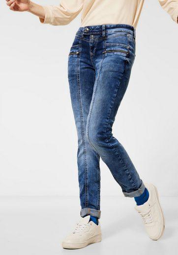 STREET ONE Comfort-fit-Jeans mit Naht auf der Front