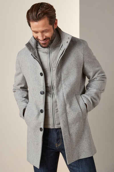 Next Wollmantel »Mantel mit Trichterkragen und entnehmbarer Weste« (2-tlg)